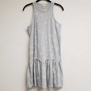 Rebecca Taylor Gray Eyelet A-line Dress Size S